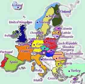 carte europe 6eme