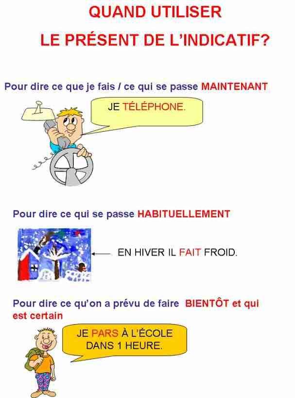 FLE - Présent - Quand l'utiliser?-French