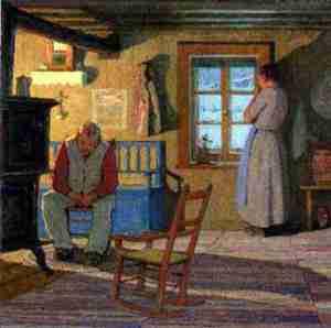 Illustration de Clarence Gagnon pour Maria Chapdelaine