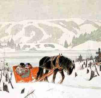 Illustration de Clarence Gagnon pour Maria Chapdelaine.