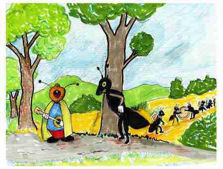 La cigale et la fourmi italien - Illustration la cigale et la fourmi ...