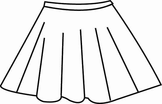 Flat Of Pleated Skirt Coloring Pages